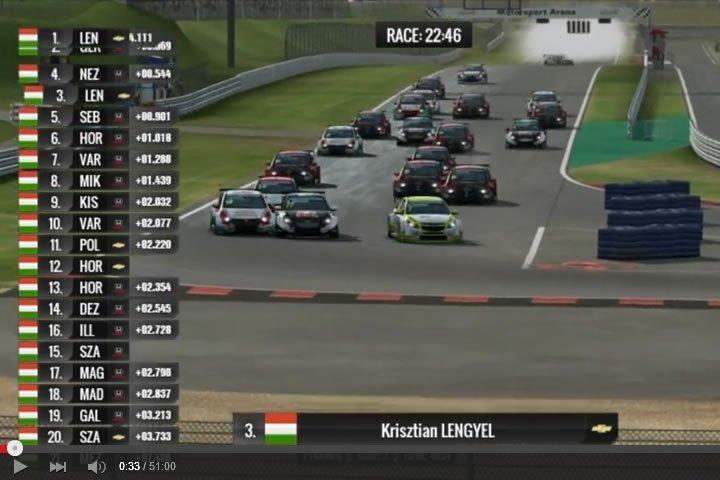 WTCC Oschersleben - szimulátor autóverseny
