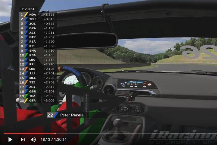 Mazda MX-5 Rookie Cup – Okayama verseny videó (iracers)