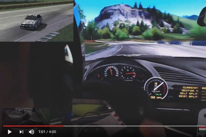 Szimulátor versenyzés - Sim Rally BMW teszt