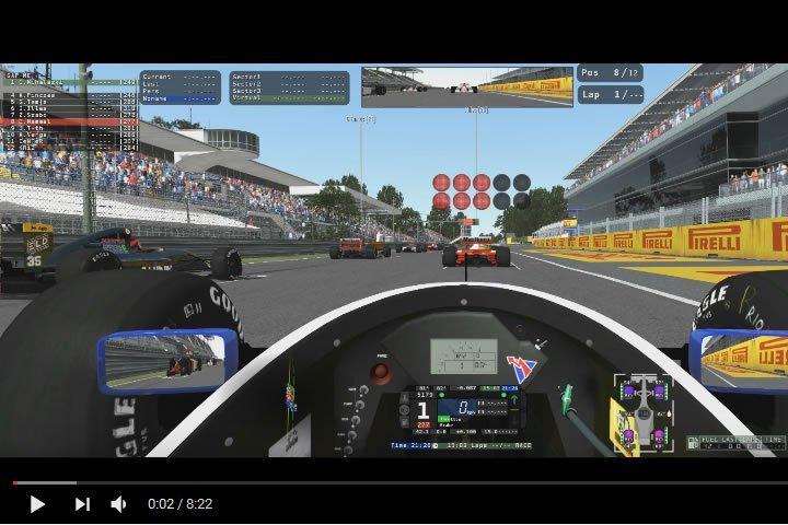 rFactor2 – vissza a V10-es motorokhoz a Formula 1-ben (Monza)