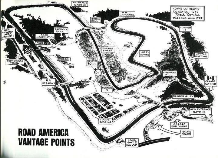 Raceroom - Road America pályatérkép