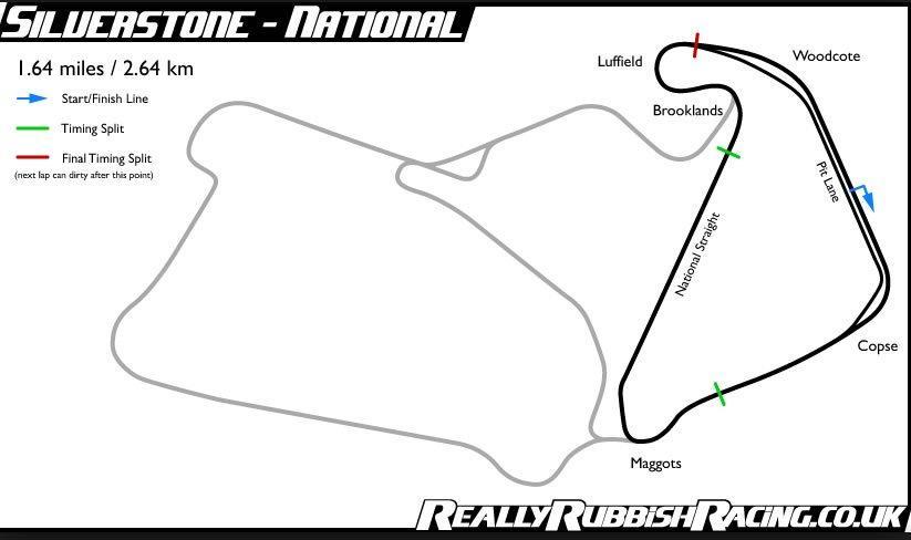 Assetto Corsa - Silverstone National pályatérkép