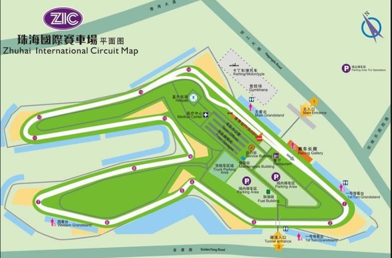 Raceroom - Zhuhai pályatérkép