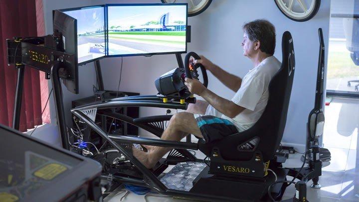 Szimulátor autóversenyzés