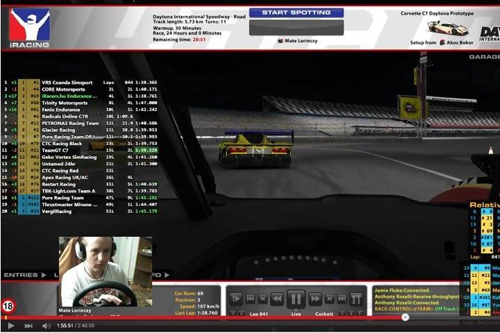 iRacing - Daytona 24h befutó - szimulátor autóverseny