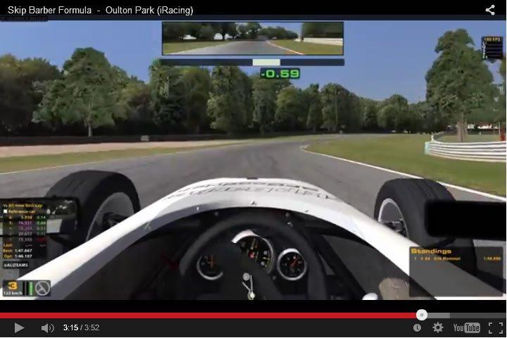 Szimulátor autóverseny - Skip Barber - Oulton Park