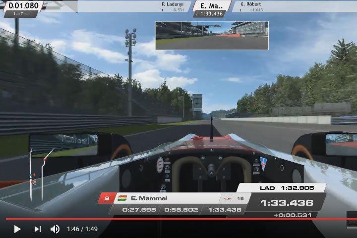 Szimulátor versenyzés - FR2 - Monza