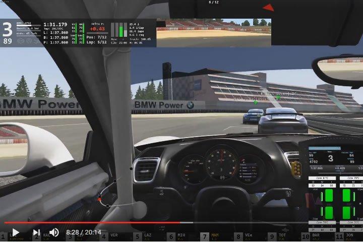 Szimulátor versenyzés - Porsche Cayman GT4 Clubsport - Nürburgring