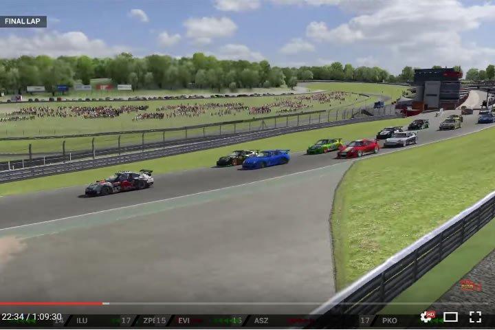 Szimulátor versenyzés - iracing RUF RT 12R verseny - Brands Hatch