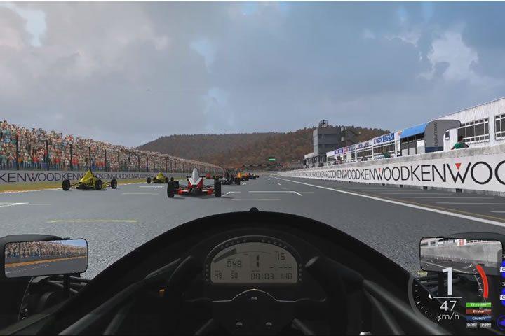 Automobilista - edzőverseny Okayama-ban egy Formula Trainer-el