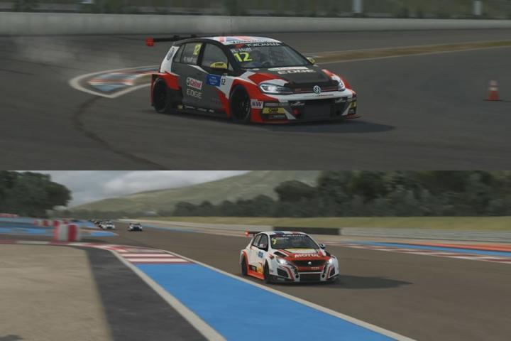 Raceroom - WTCR bevásárló kocsik teszt - Peugeot 308 és VW Golf GTI TCR